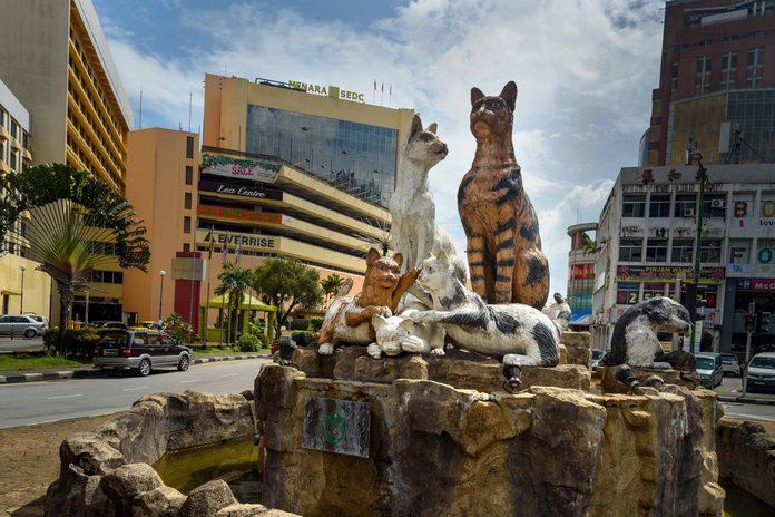 Cat monument in Kuching, Malaysia