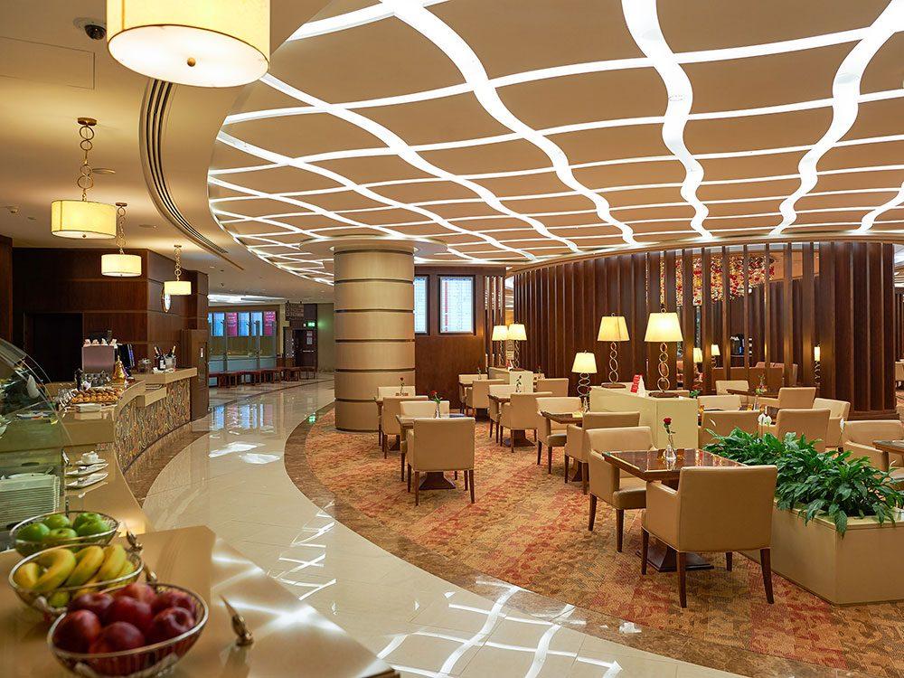 Emirates airport lounge, Dubai