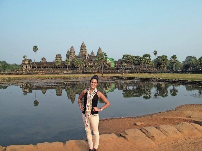Jenna Davis at Angkor Wat, Cambodia