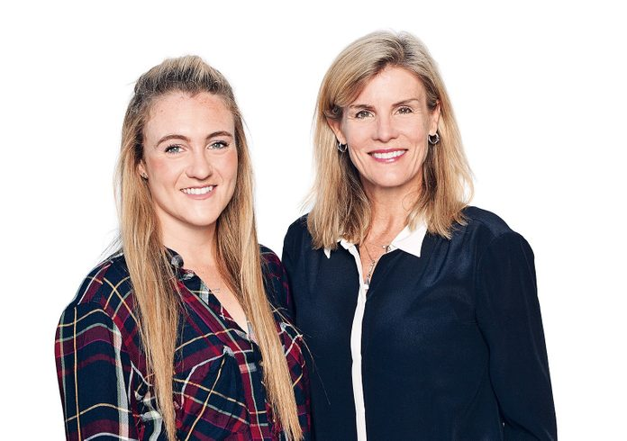 Kim Duffy (right) with her daughter Corinne (left)