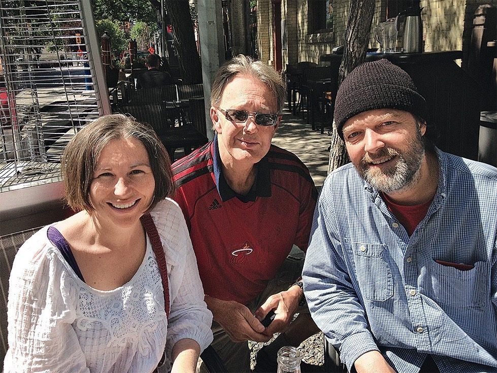 Mac Horsburgh with Julia Mackey and her husband Dirk