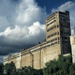 Graffiti adorns abandoned elevators behind Silo No. 5 in Montreal
