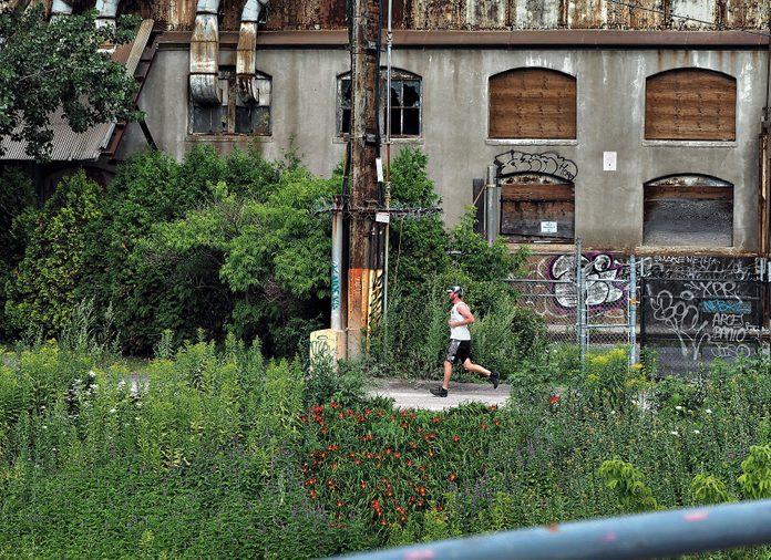 Man jogging in Montreal