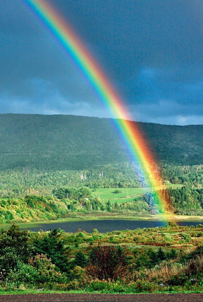Rainbow in northern Cape Breton