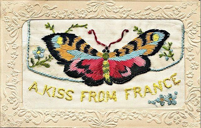 Silk postcard from France