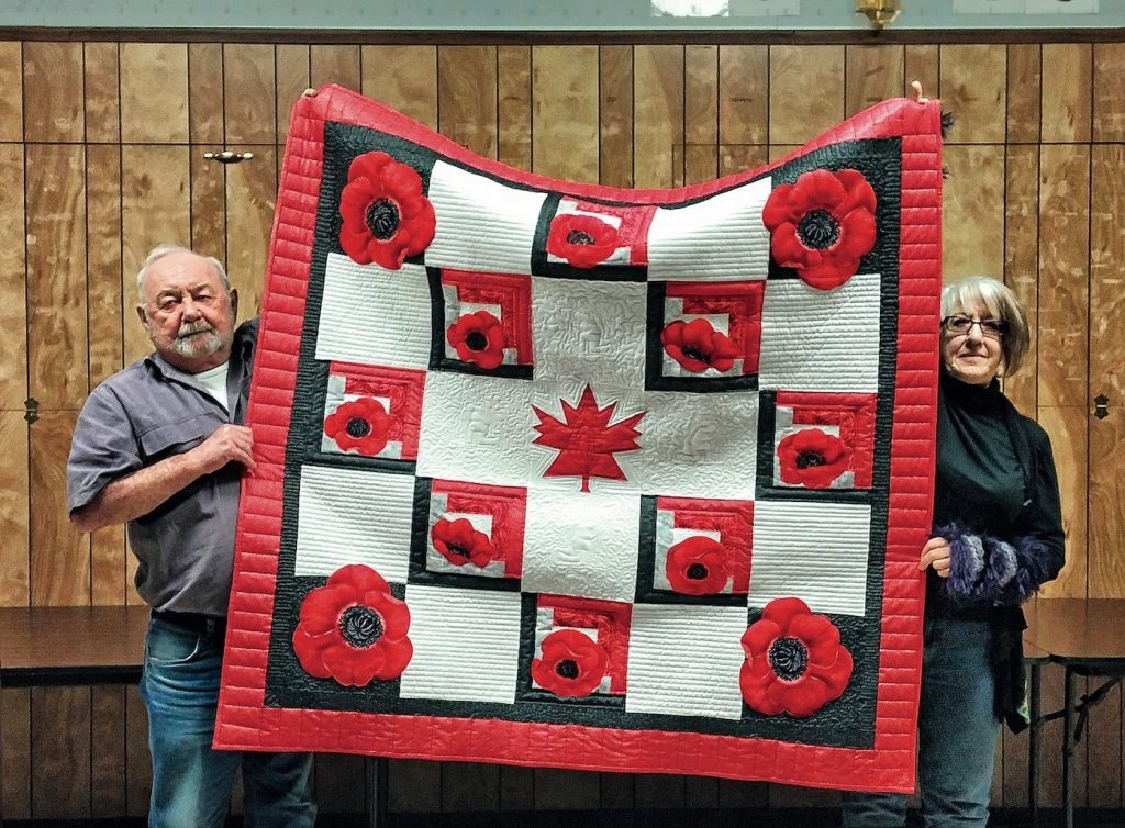 Legion Branch 97 president Frank Murphy and member Patricia Lemaire in time for Remembrance Day