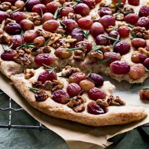 Wholemeal Walnut and Grape Focaccia