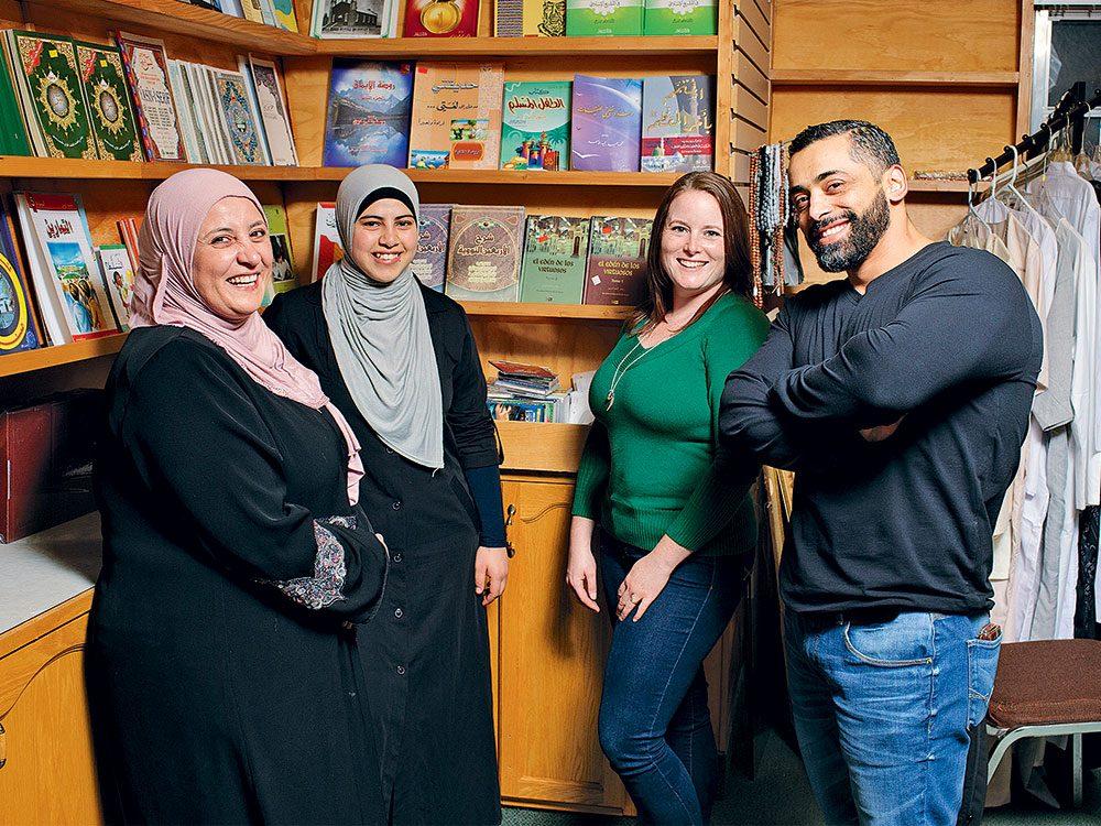 Salwa Kadri, Lemis Aldarwish, Danielle McDougall and Hussein Jomaa