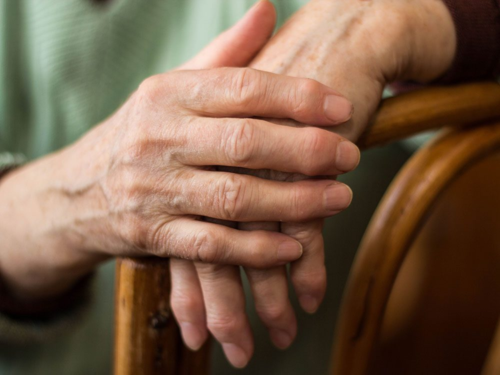 Senior women with arthritis
