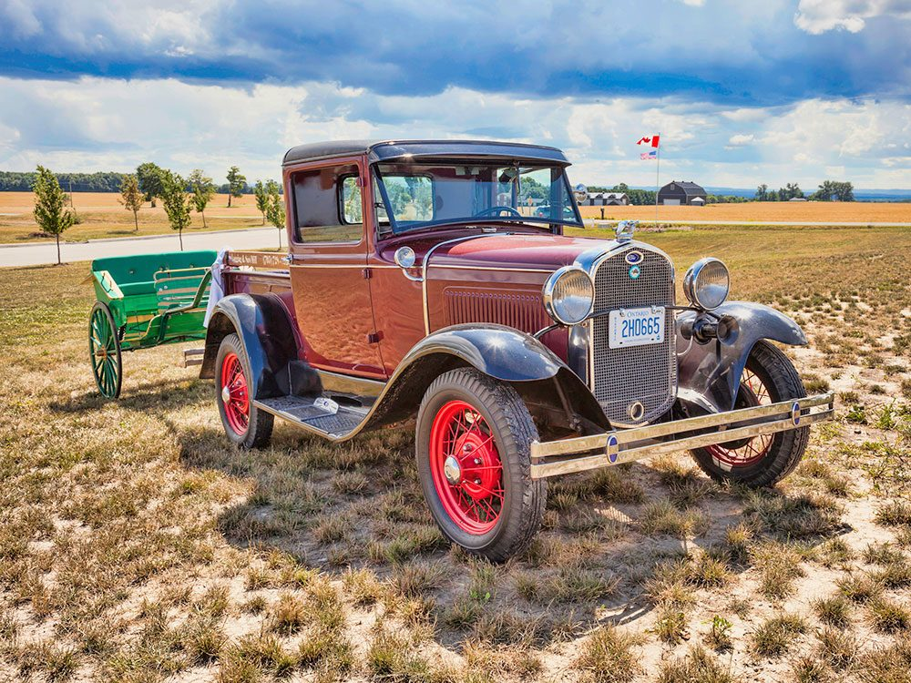 1930 Ford Pick-Up Truck with trailer