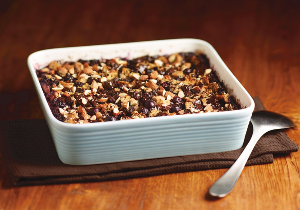 Dark Chocolate and Blueberry Pudding