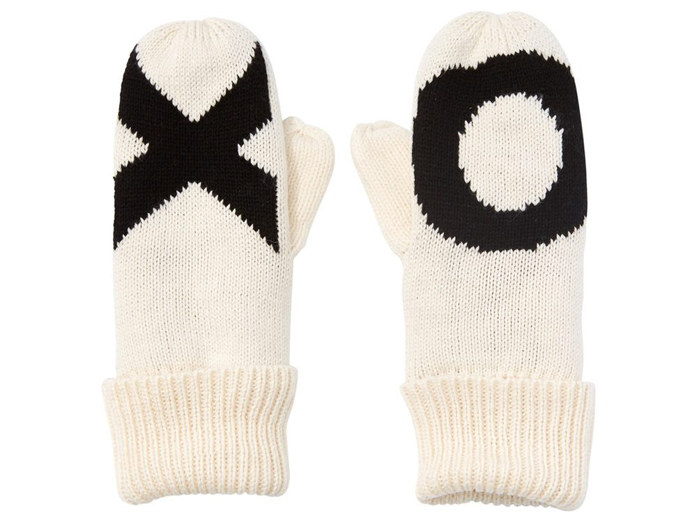 Women's X and O mittens