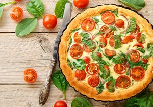 Chuck Hughes' Tomato Pie with Herb Salad