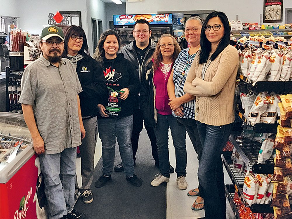 Staff at North of 60 Convenience