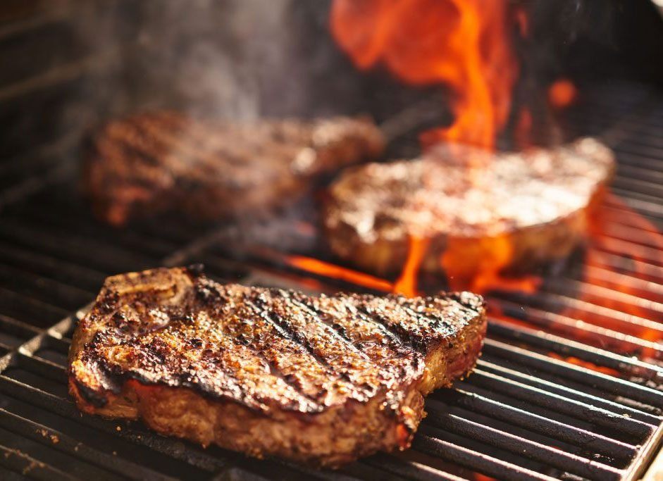 Meat being grilled