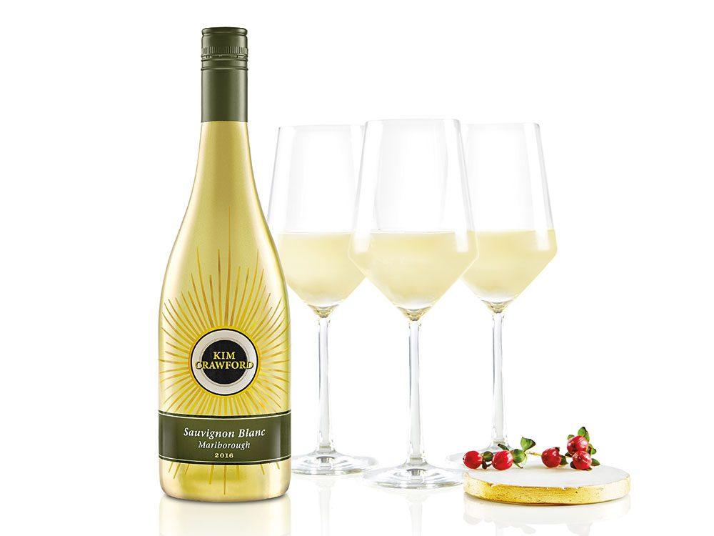 Bottle of Kim Crawford wine