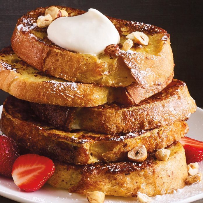 French Toast with Orange Zest and Maple Whipped Cream