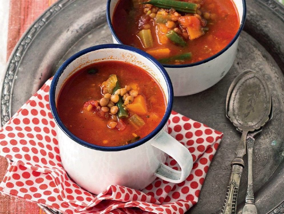 Indian-Spiced Bean-and-Tomato Soup Recipe — Dishmaps