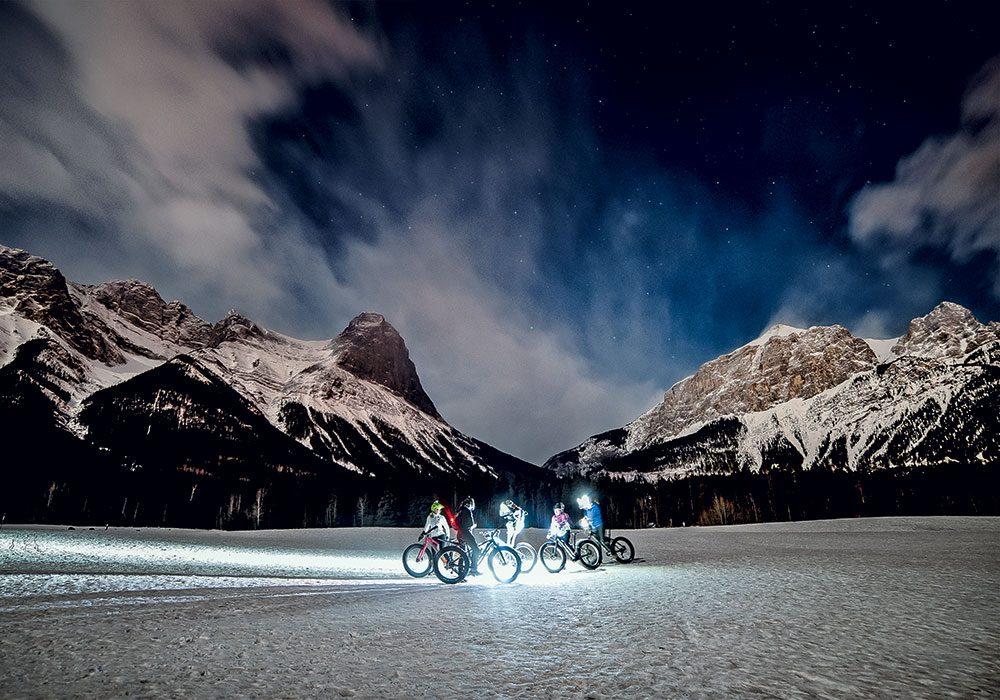 Rocky Mountain landscape at night
