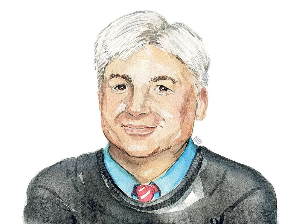 Illustration of comedian and actor Mike Myers