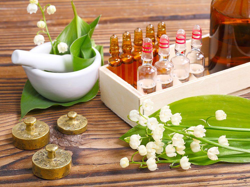 Natural medicine cabinet items