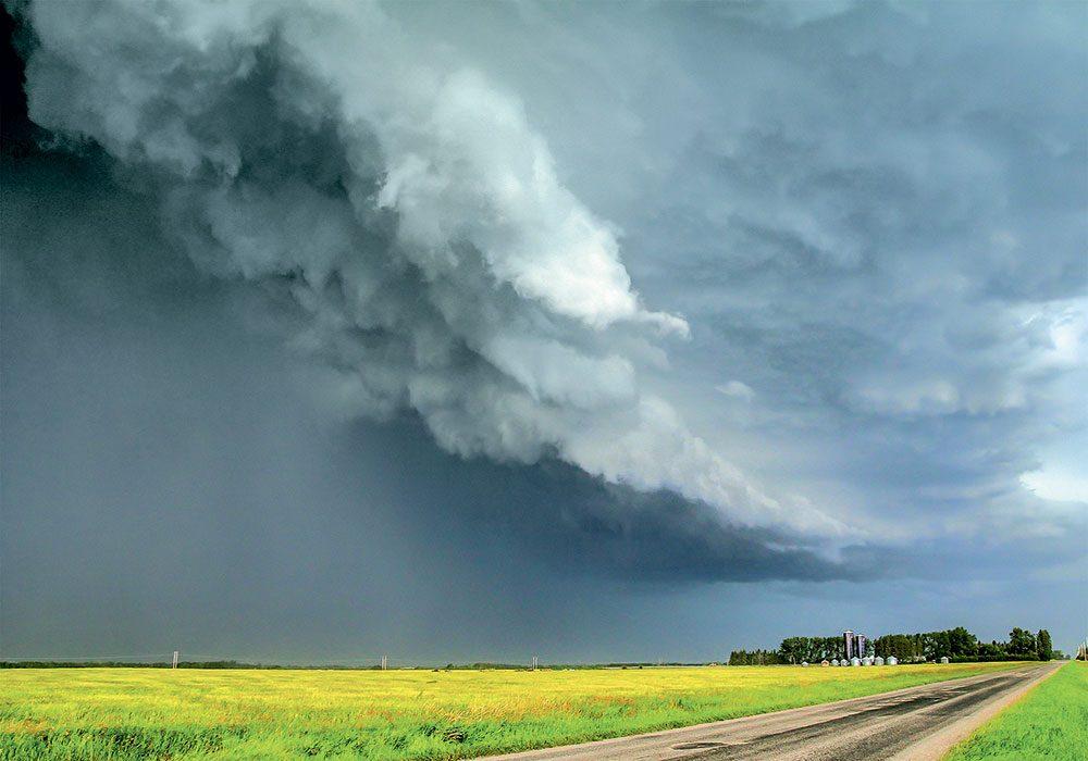 Stormy skies in Olds, B.C.