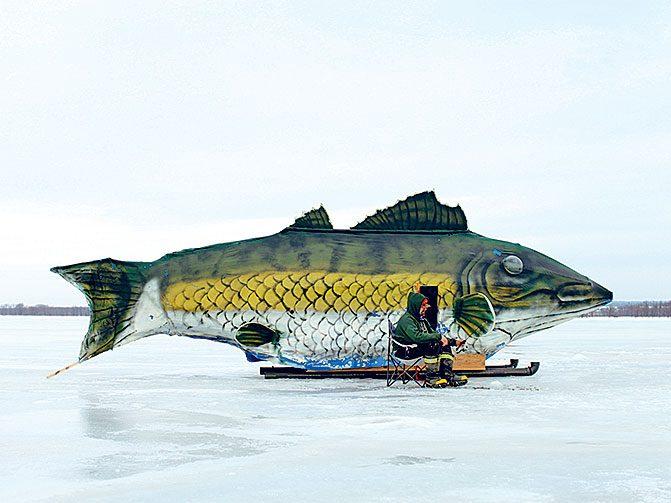 Wally the ice fishing hut