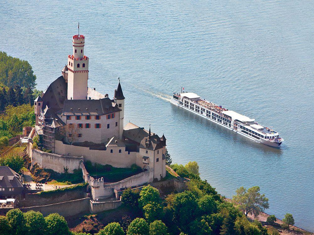 Uniworld cruise ship on the Rhine