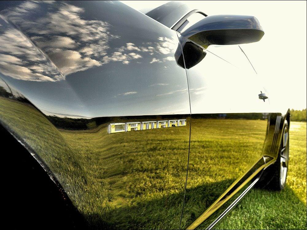 Reflections on Camaro door