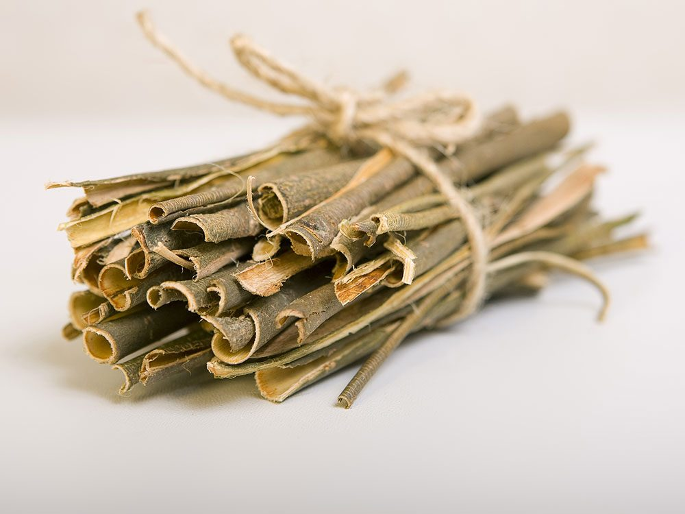 Willow bark tablets for pain