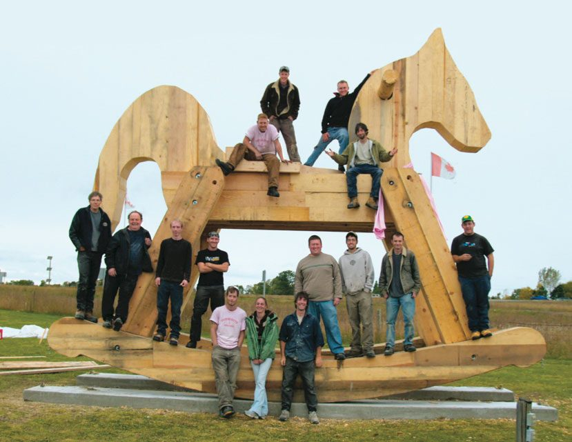 Giant rocking horse