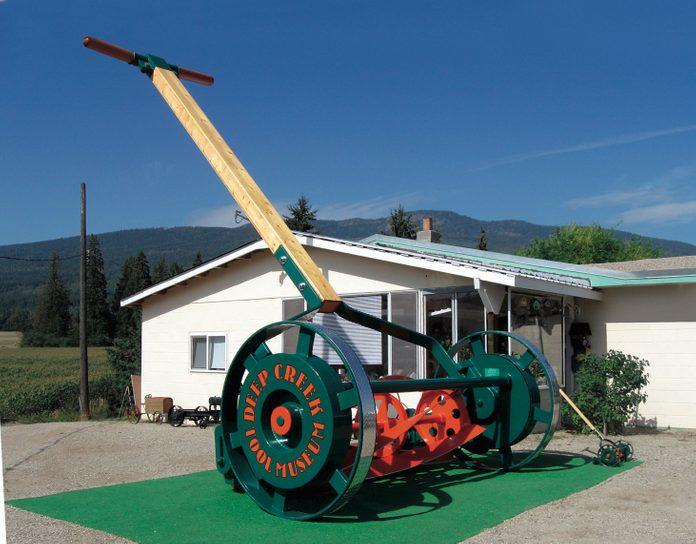 Giant lawn mower display