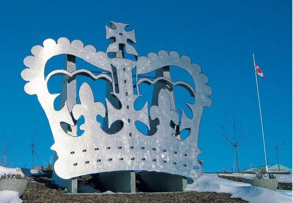 Crown statue in Alberta