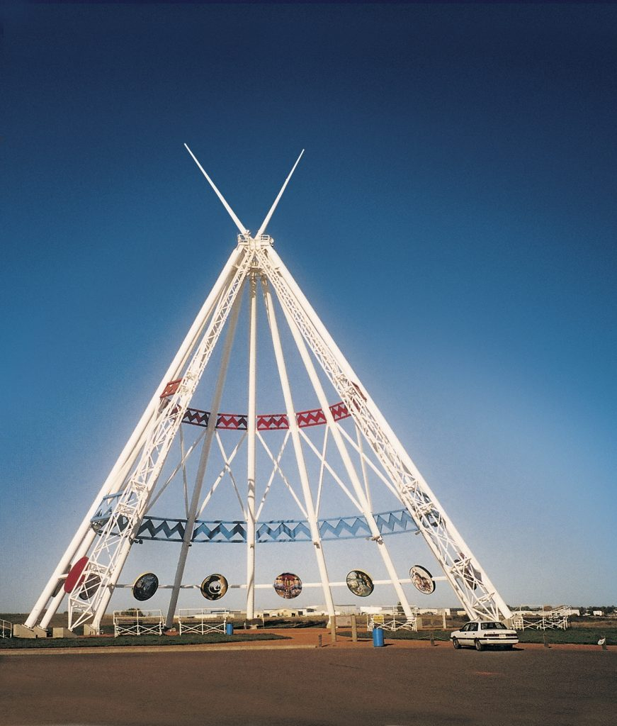 Giant teepee in Calgary