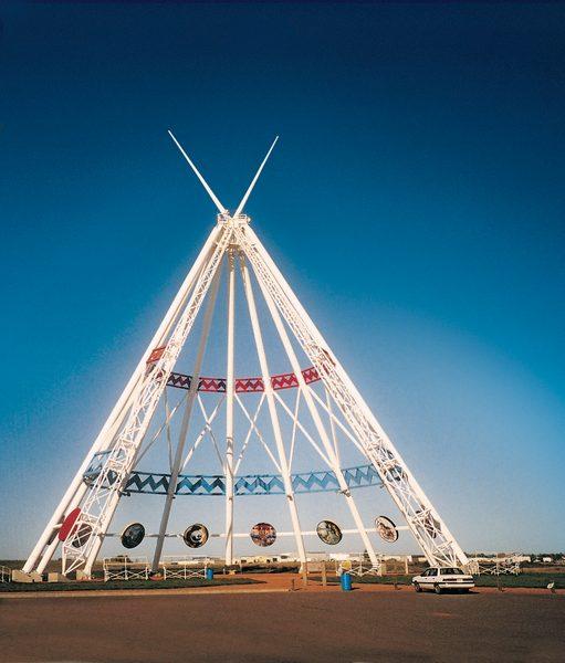 Giant teepee in Calgary