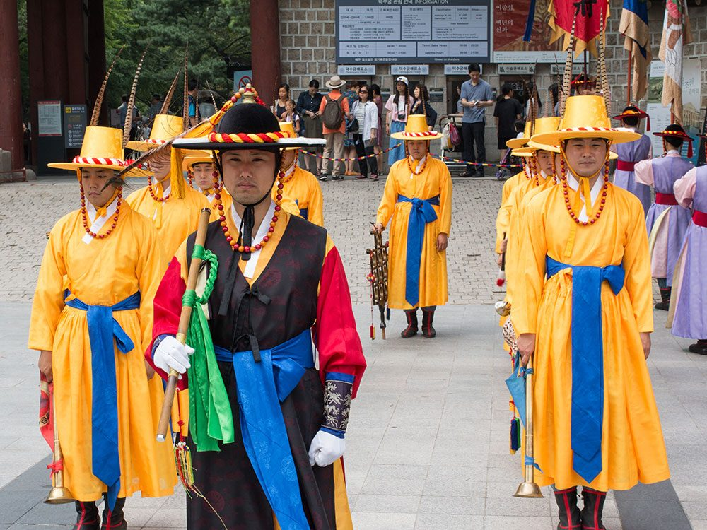 Changing of the Guard Ceremony at Deoksugung, Seoul