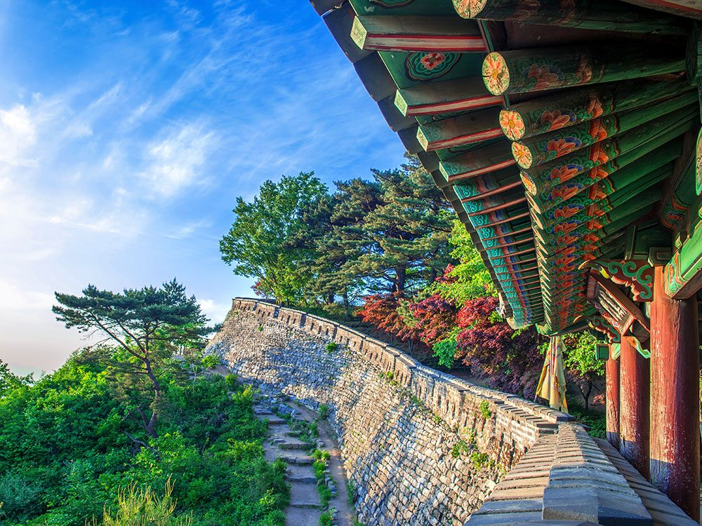 Mountain fortress in Seoul