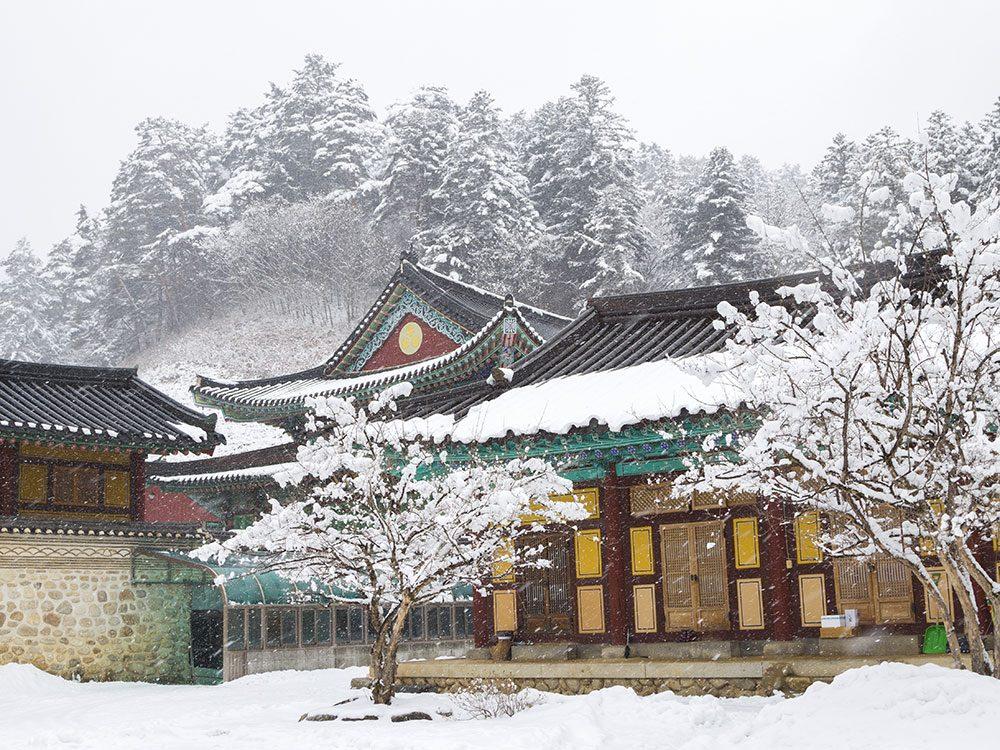 Winter in Pyeongchang, South Korea