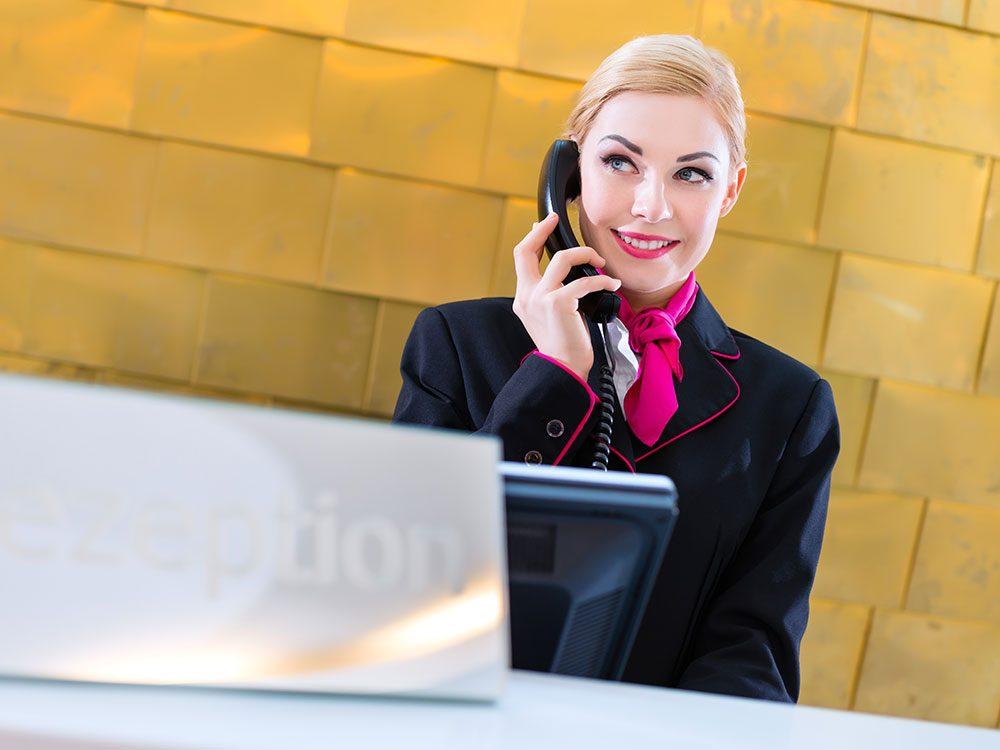 Hotel receptionist