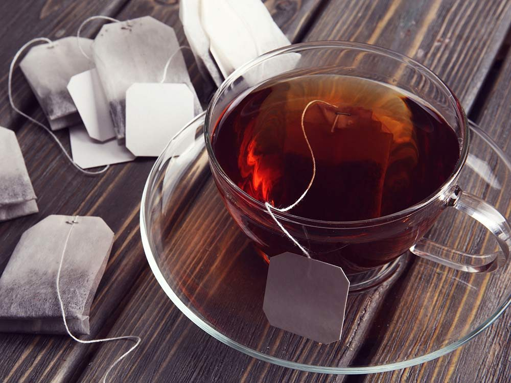 Black tea and tea bags