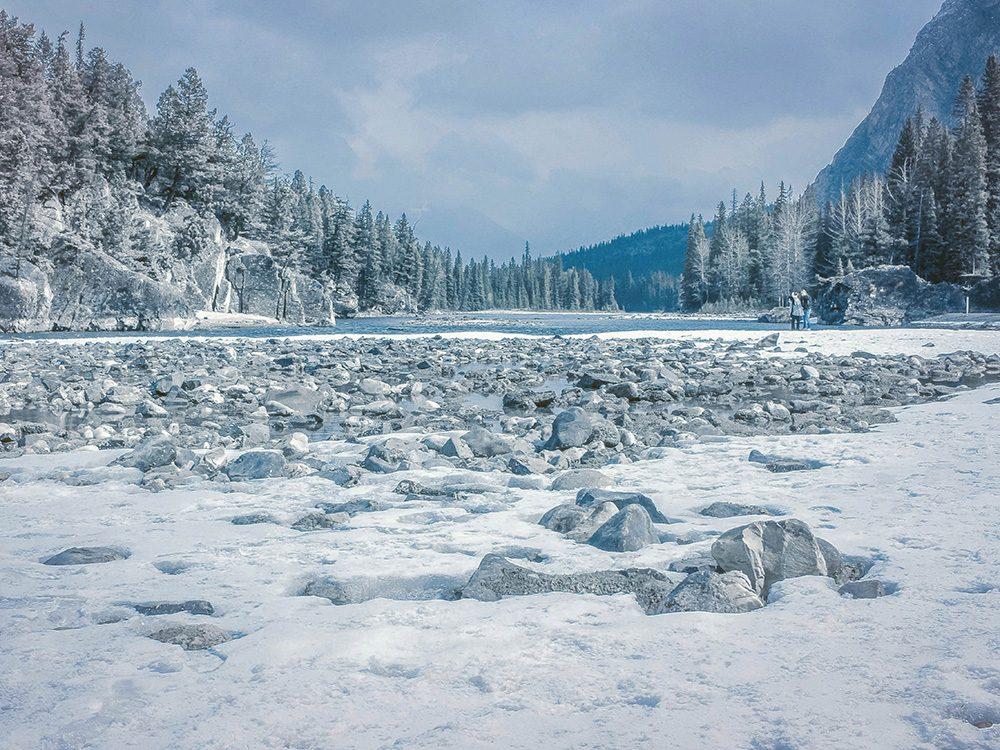 Winter landscape in Banff