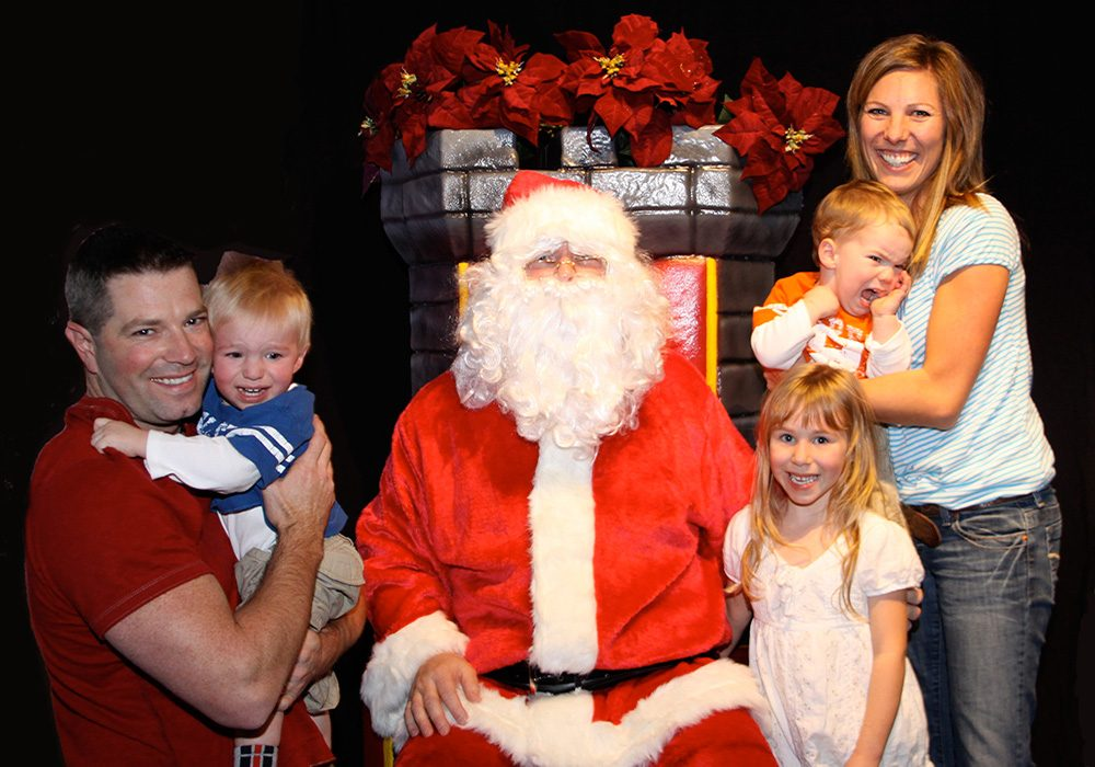 Santa Claus with family