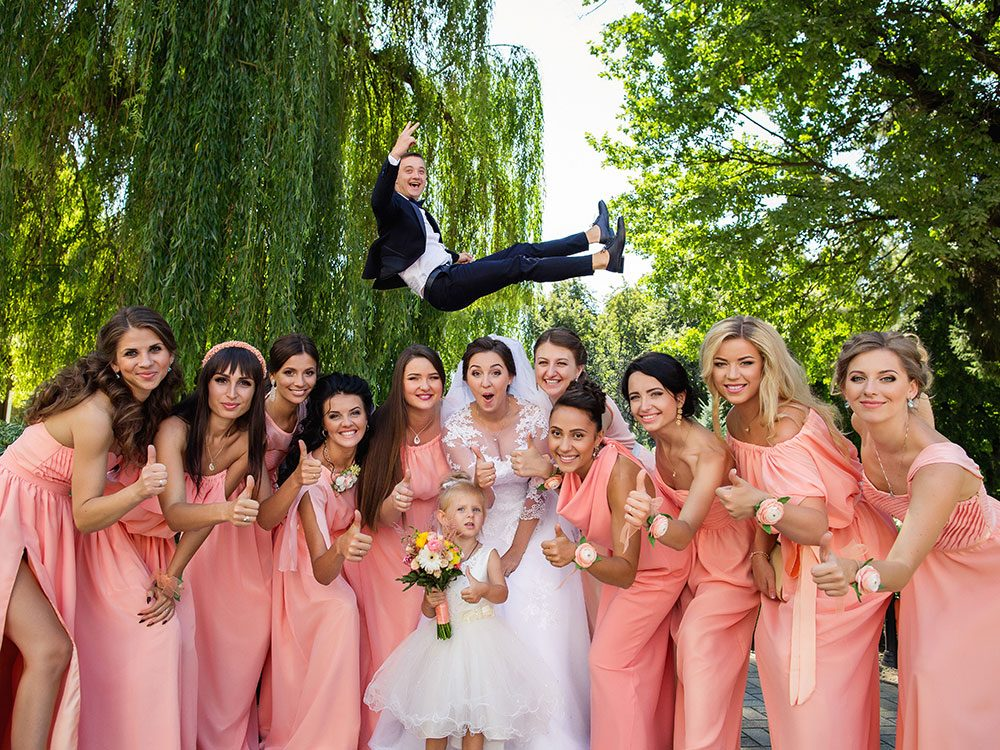 Funny wedding party