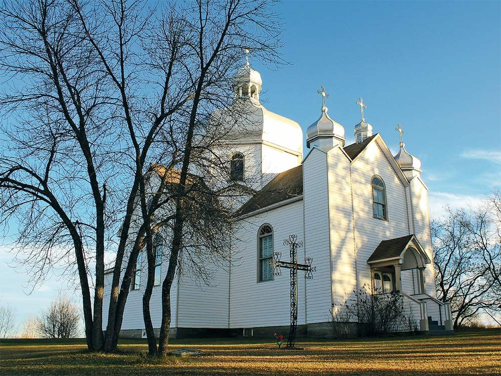 Whitesand church in Saskatchewan