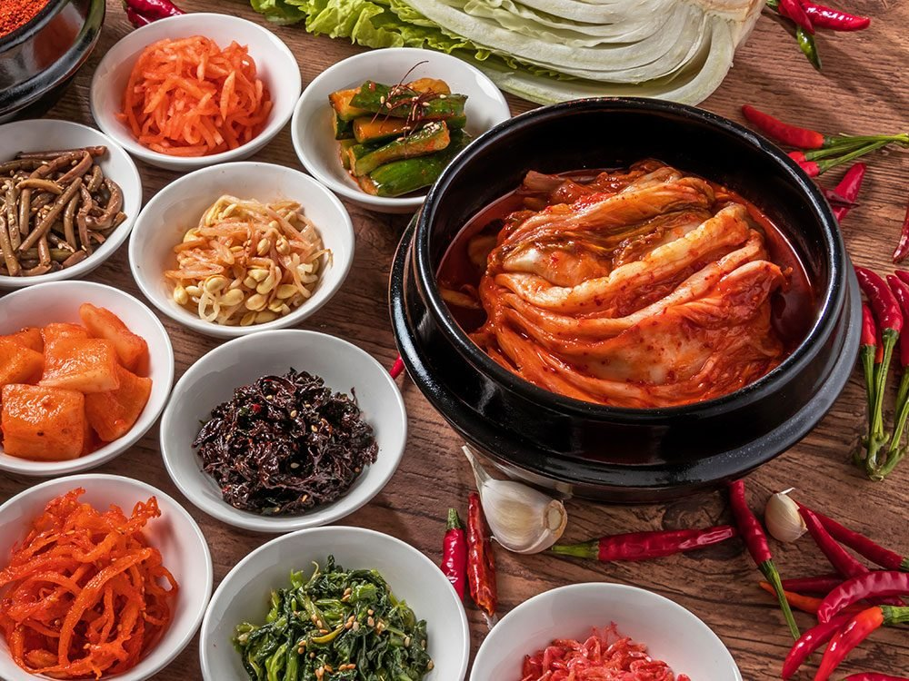 Kimchi and other Korean foods