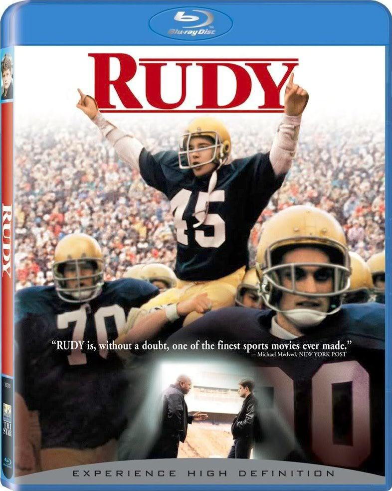 Blu ray cover of Rudy