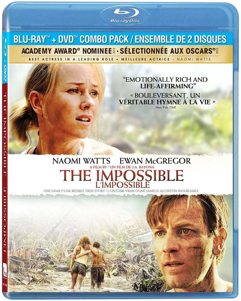 Blu ray cover of The Impossible