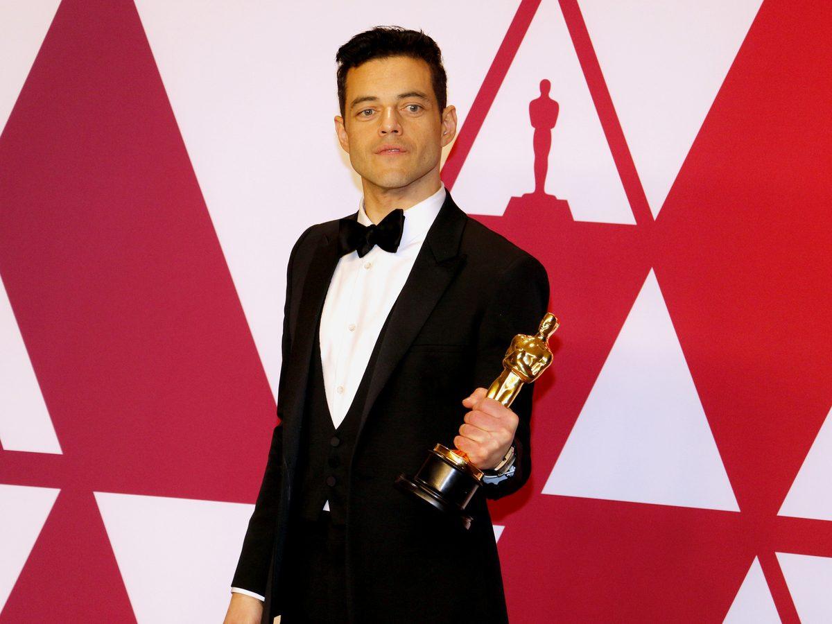 Rami Malek with his Oscar