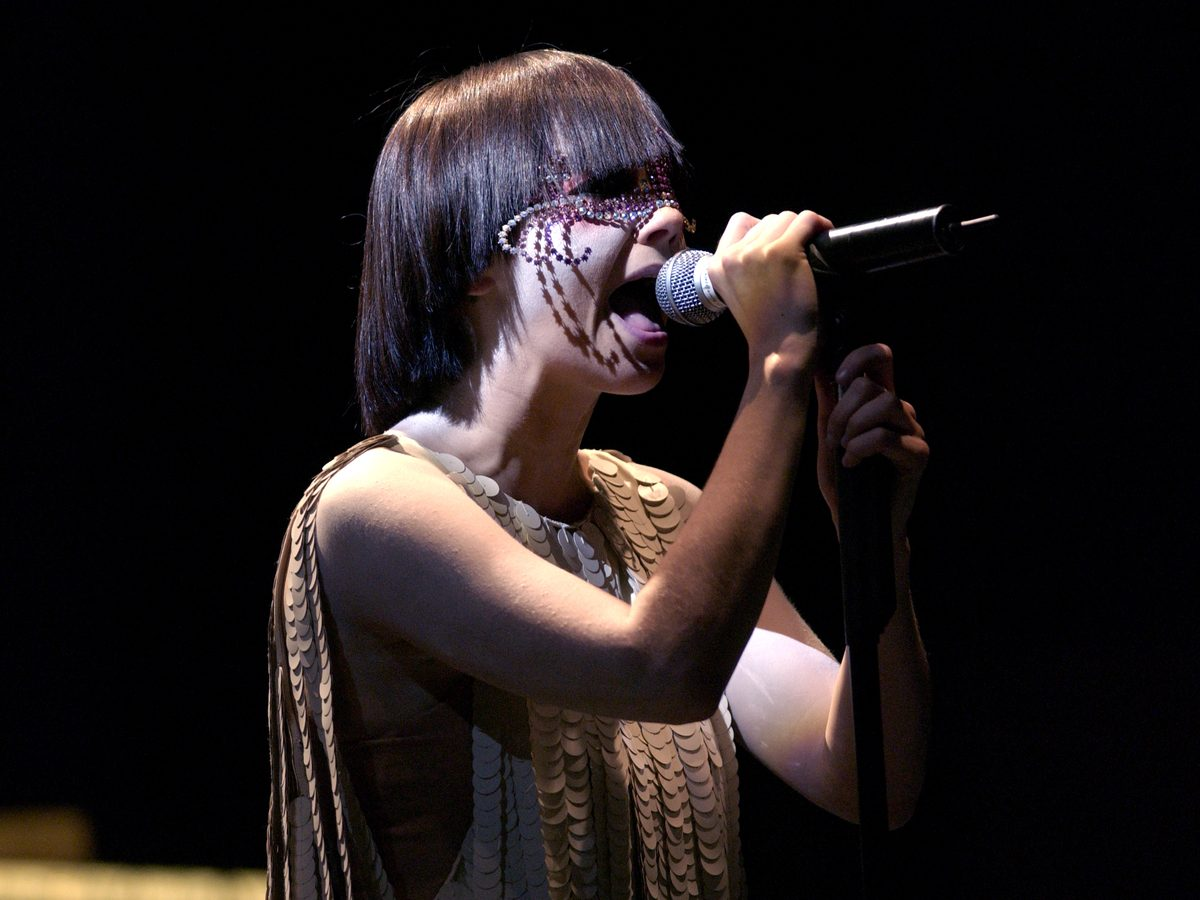 Bjork performing live in 2003