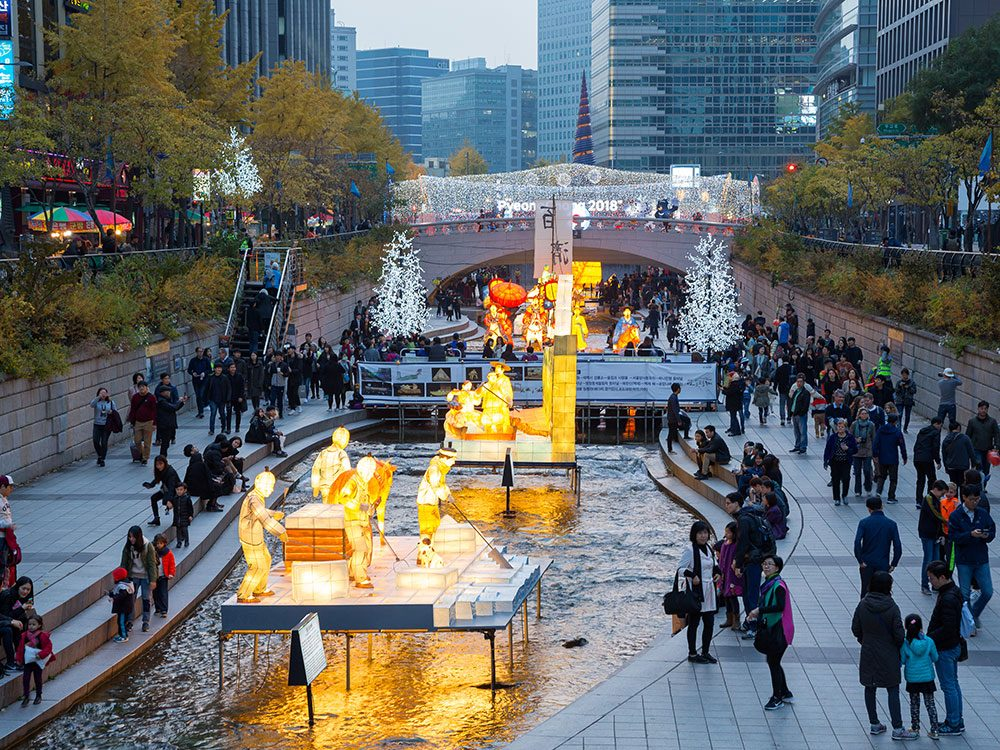 Seoul Lantern Festival displays